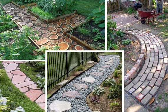 Landscaping ideas for front yard gardens backyards and for Walkway ideas on a budget