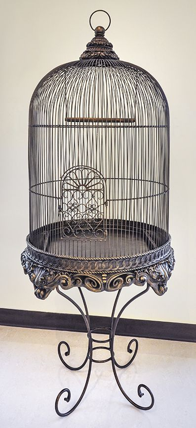 decorative bird cage with stand bronze imperial in 2019 bird cages antique bird cages bird. Black Bedroom Furniture Sets. Home Design Ideas
