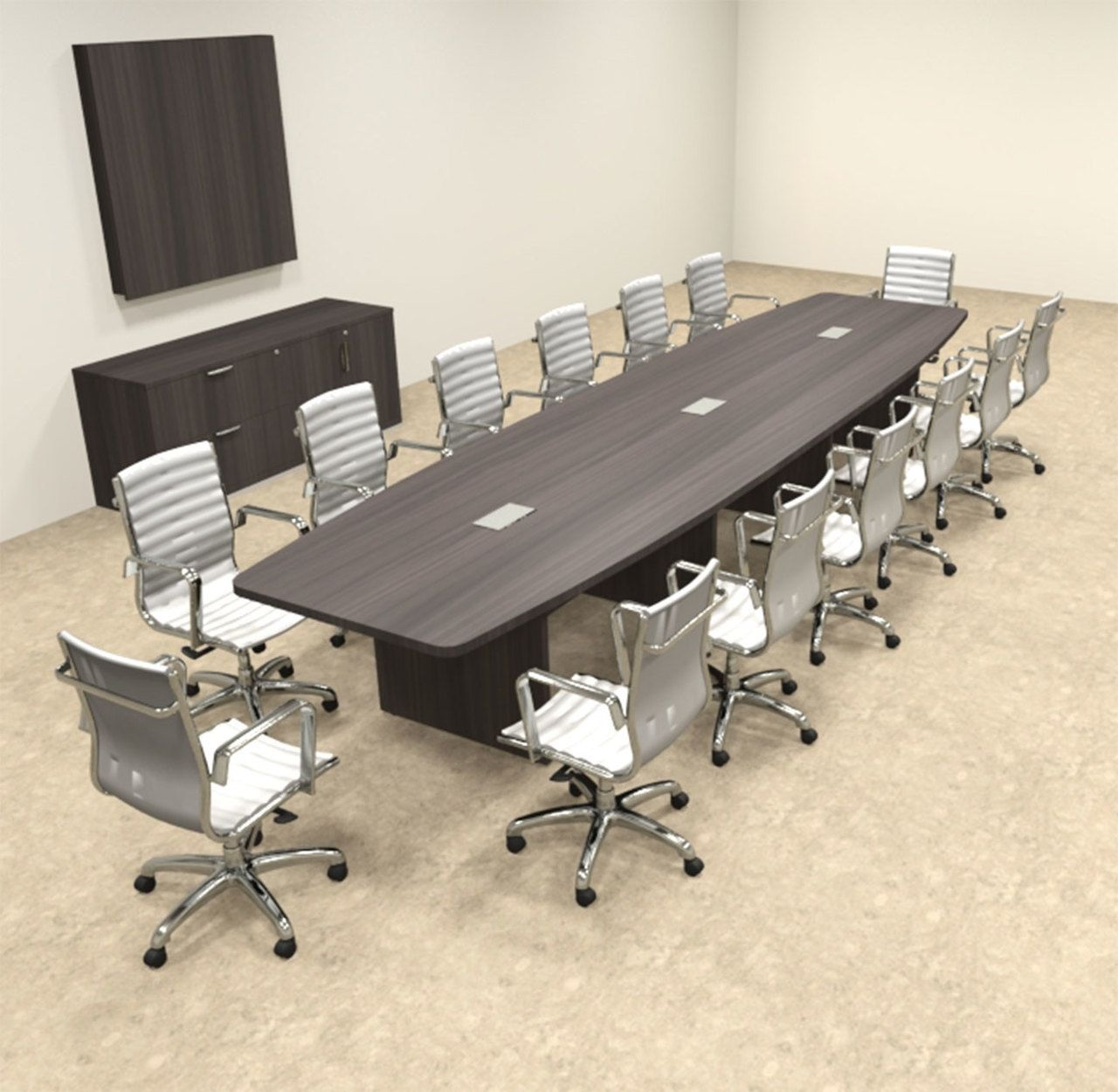 Modern Boat Shapedd Feet Conference Table OFCONC Modern - 16 foot conference room table
