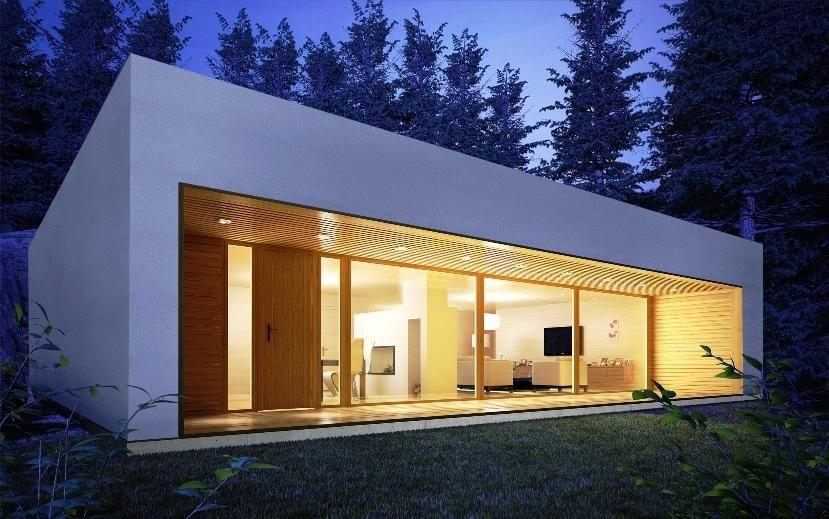 Moderna 144 m2 casas de hormigon celular for Casas prefabricadas modernas