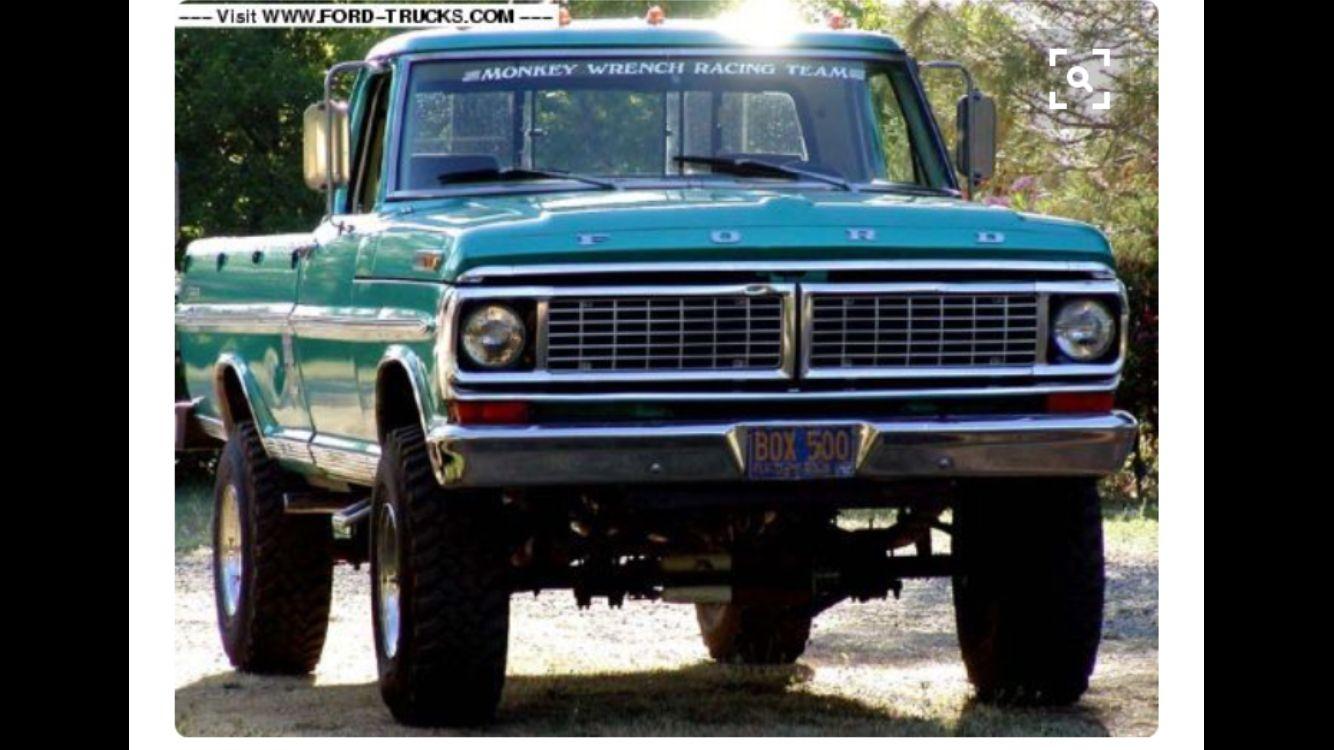 1970 F250 Bump Side Ford pickup trucks, Ford trucks, Trucks