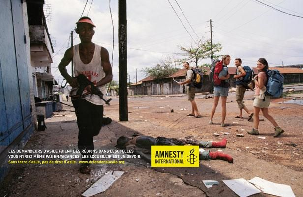 Exceptionnel Affiche d'une campagne d'Amnesty International France. | Amnesty  HL96