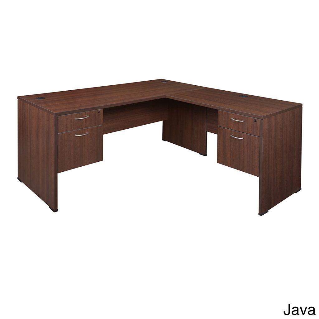 Regency 66-inch Sandia Double Pedestal L-desk