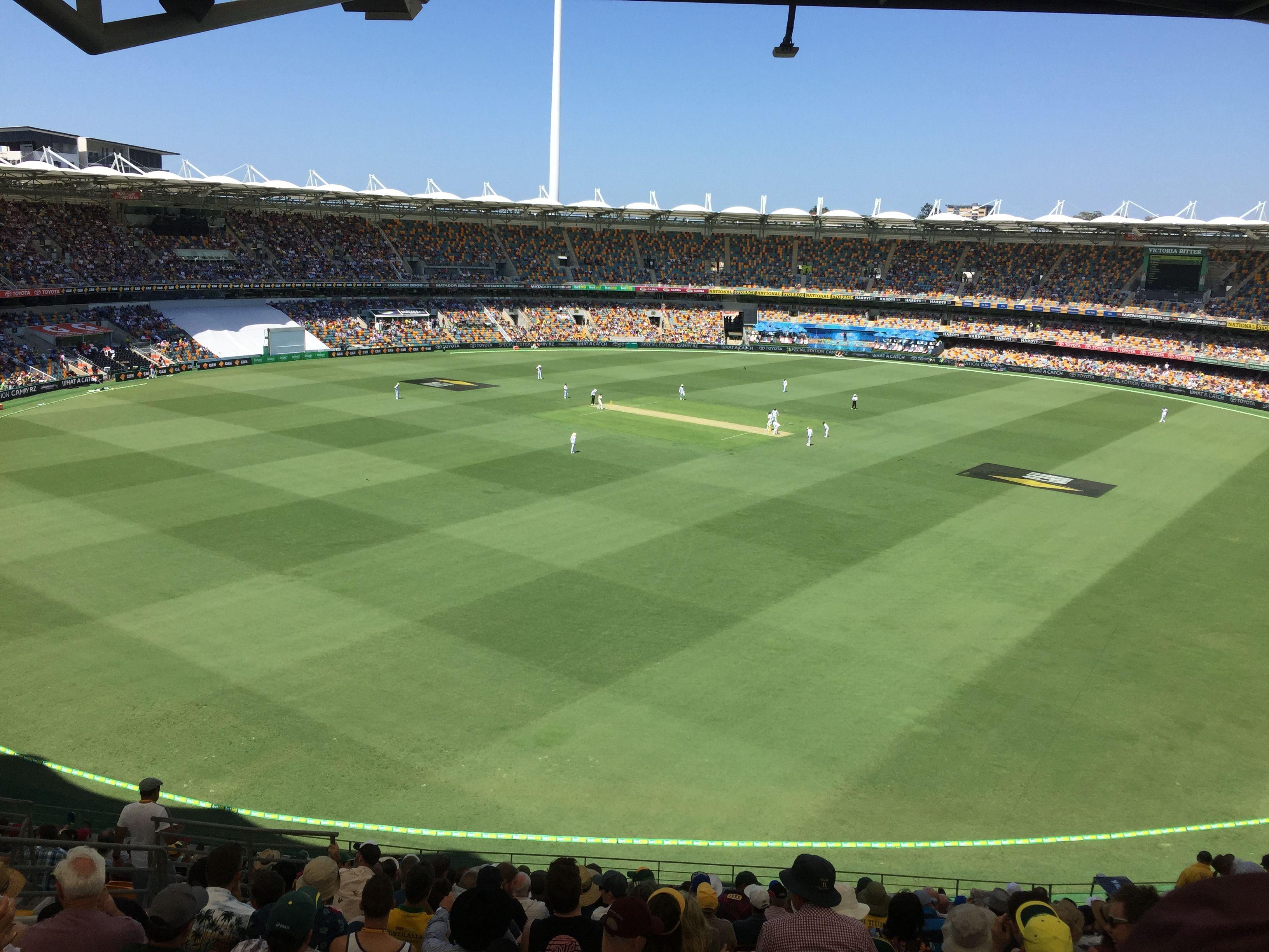 Test Cricket Match At The Gabba Brisbane Cricket Ground Woolloongabba Qld Cricket Match Test Cricket Brisbane