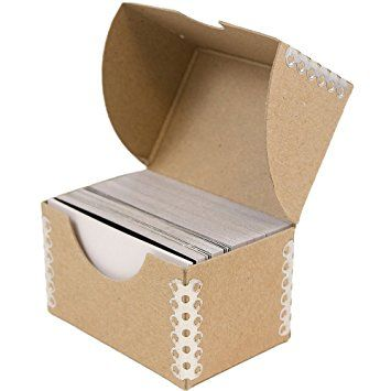 If you want to put your business cards or visiting cards in holders jam paper business card box with metal edge 2 x 3 x natural kraft sold individually colourmoves Image collections