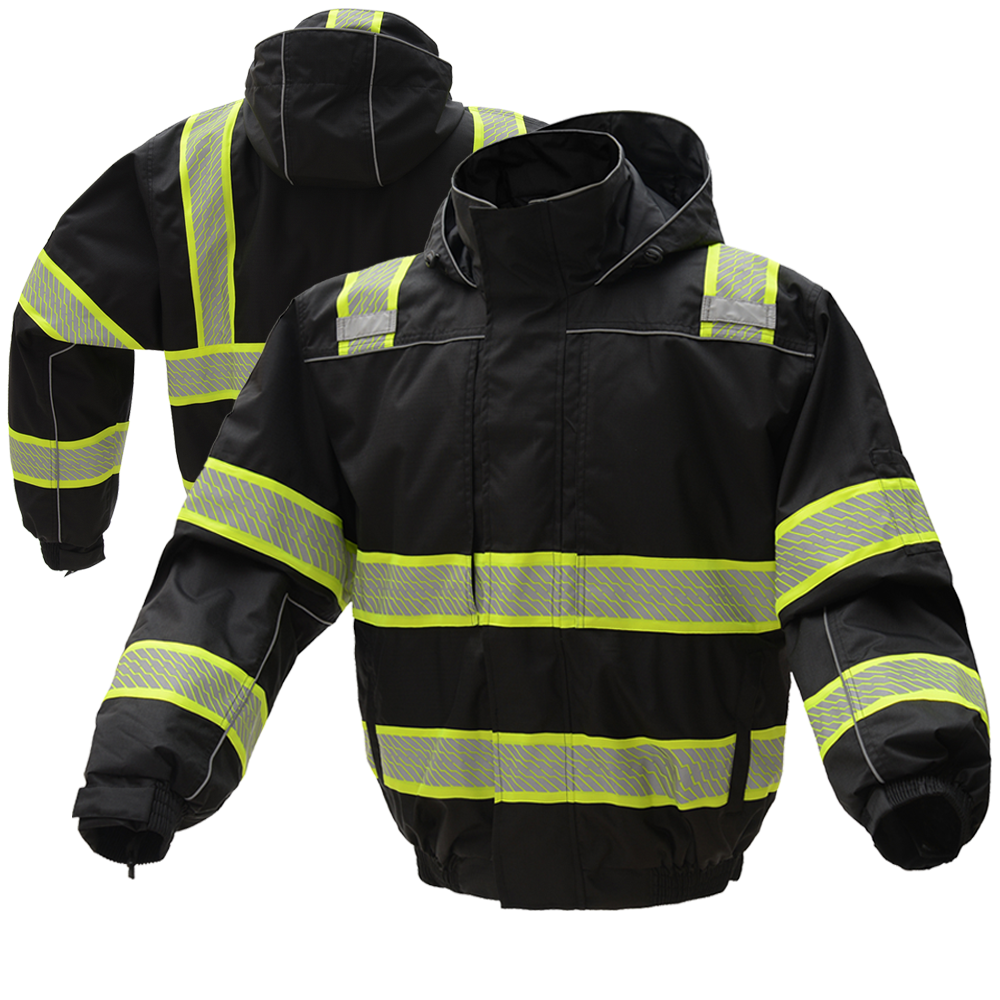 Gss Safety 8513 Onyx Series Enhanced Visibility Thermal 3 In 1 Ripstop Safety Bomber Jacket Superdry Jacket Men Bomber Jacket Winter Hi Vis Workwear