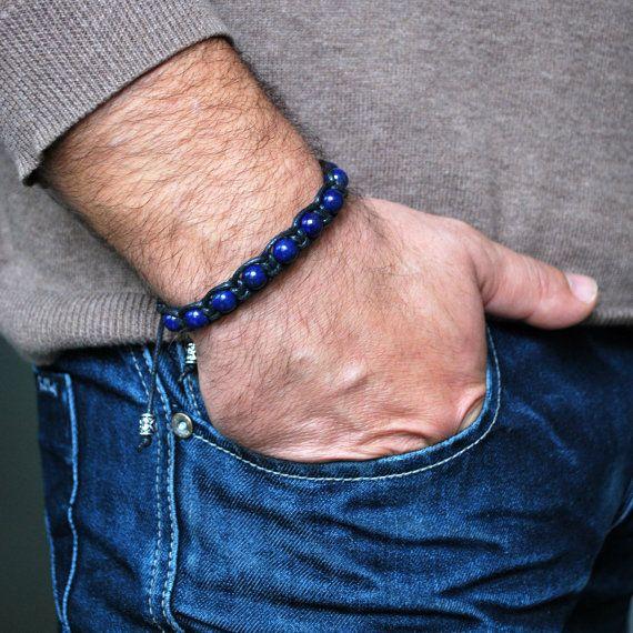 Lapis Lazuli Bracelet Mens Boyfriend Gift For Men Heal