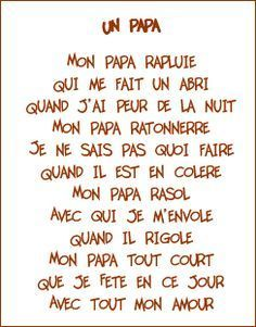 Poeme Papa Enfant Bebe Tarjetas Dia Del Padre Y Dia Del