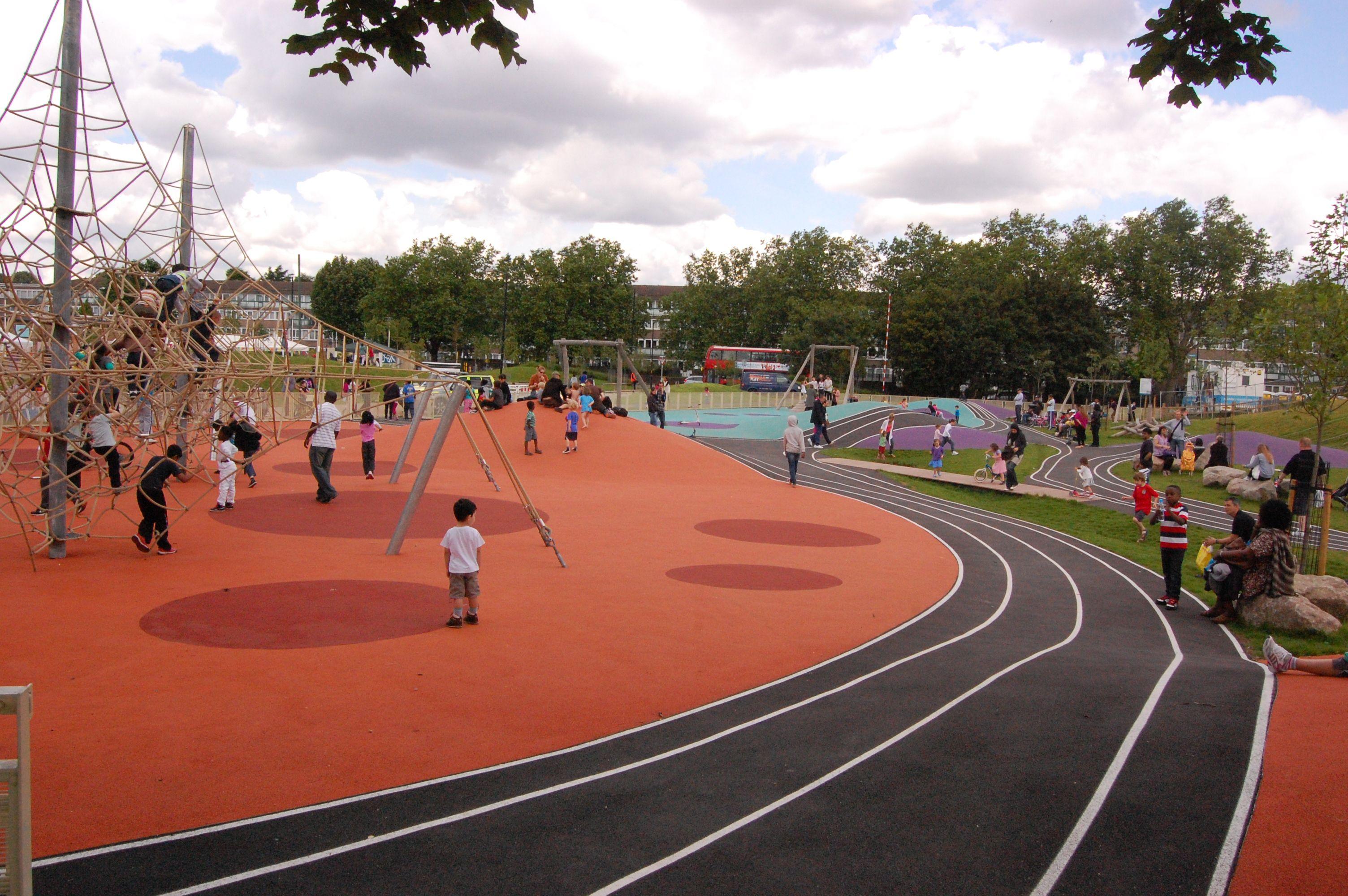 Burgess Park Over 5s Play Area Walworth London