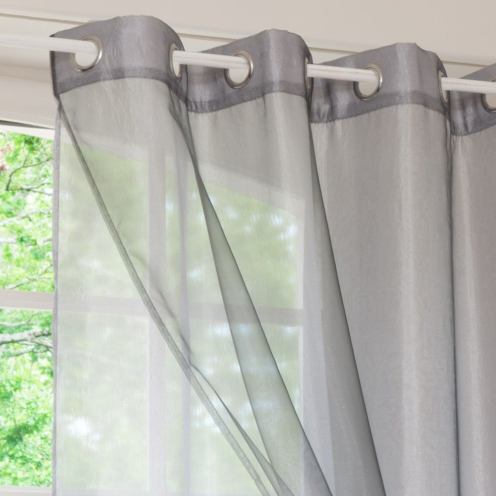 Single Grey Double Eyelet Curtain 140x250 In 2019 House