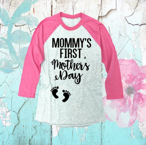 7db2d5b4 Mommy's First Mother's Day® Shirt. Pregnancy Shirt. First Mother's Day  Baseball Tee. Mommy To Be Shi