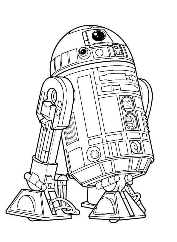 Star Wars Droid R2 D2 Coloring Pages Starwarscharacters Star Wars Coloring Sheet Star Wars Coloring Book Star Wars Drawings