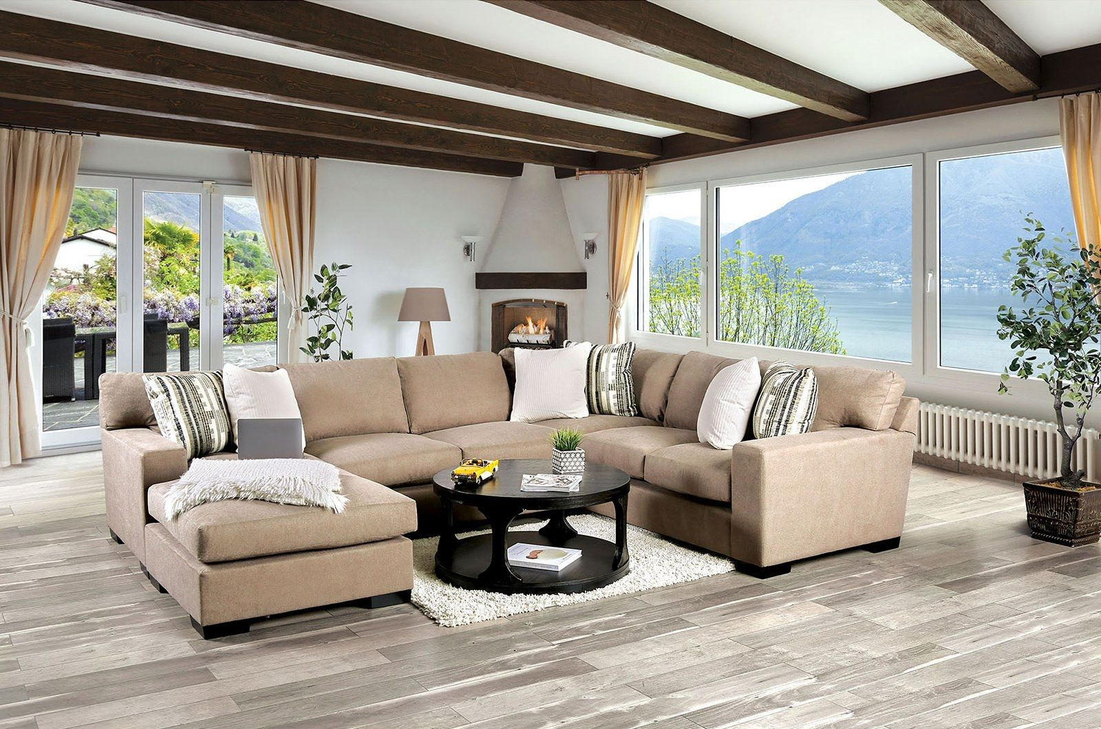 Ferndale Brown Sectional Sofa Sm1286 Furniture Of America Sectional Sofas In 2020 Sectional Sofa Comfy Furniture Furniture Of America