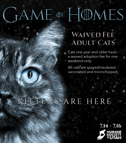 The Humane Society of Utah ties in a new season of Game of