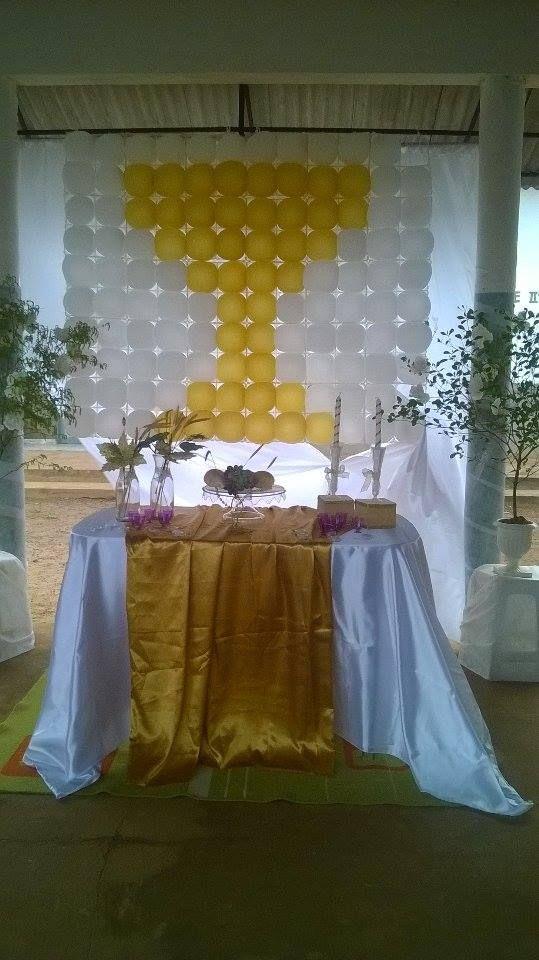 ORNAMENTA u00c7ÃO PRIMEIRA EUCARISTIA FESTA PRIMEIRA EUCARISTIA Flores artesanais, Ornamentacao  # Decoração Primeira Comunhão Igreja