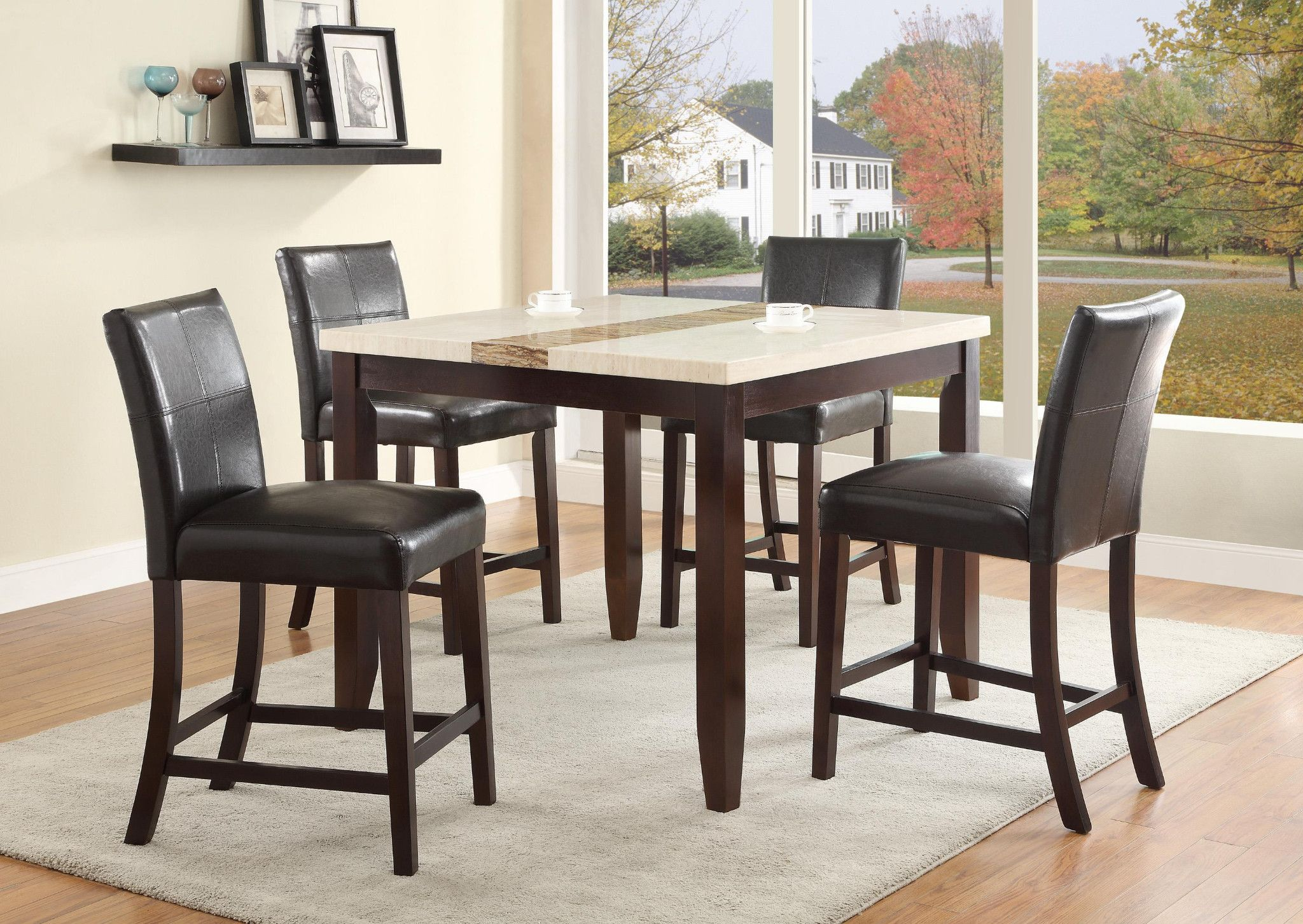 Larissa 5 Piece Counter Height Table And 4 Chairs 599 00 Table 42