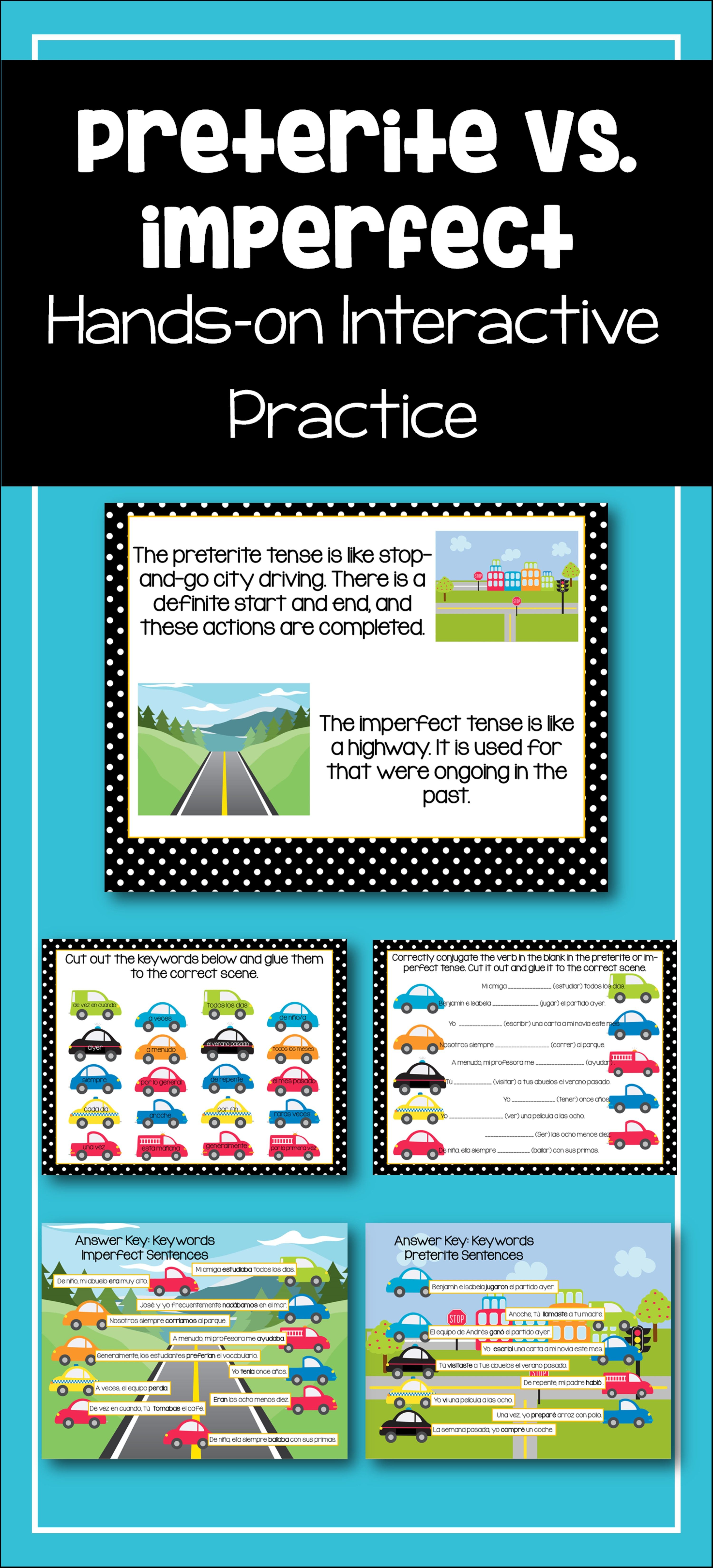 Spanish Preterite And Imperfect Interactive Worksheet