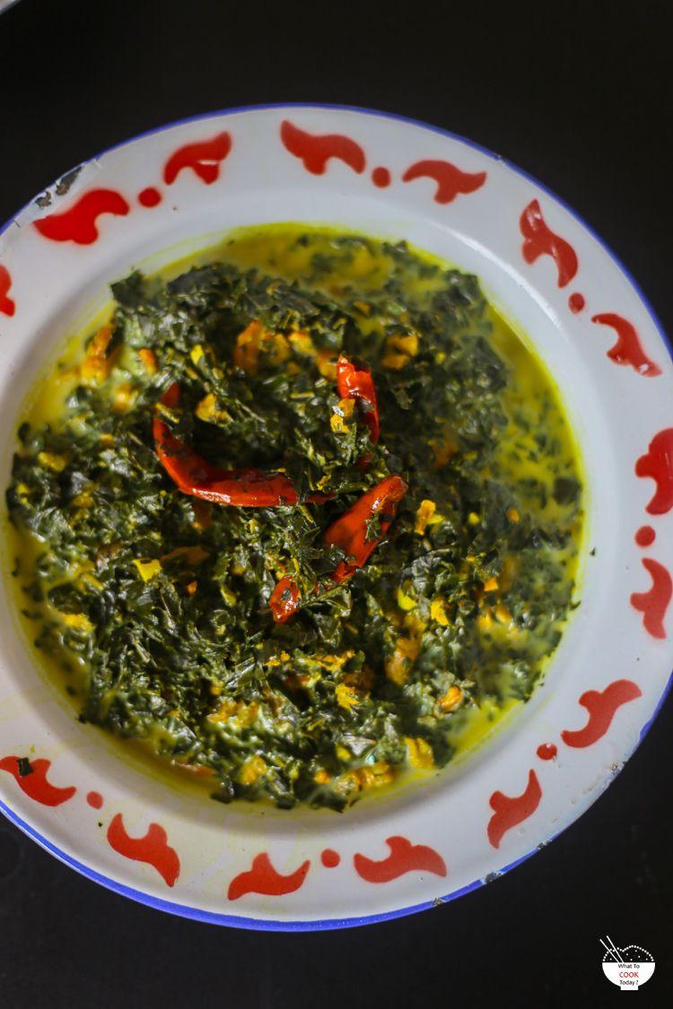 Stewed Cassava Leaves In Coconut Milk Daun Ubi Tumbuk Cassava Stew Cooking
