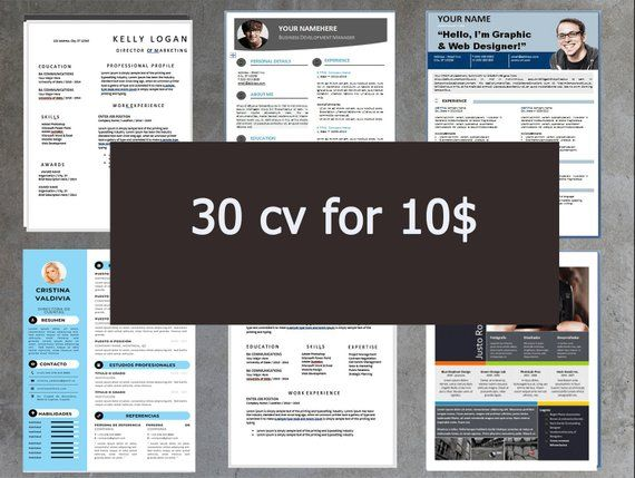 cv template open office  30 pack of etsy u0026 39 s top selling