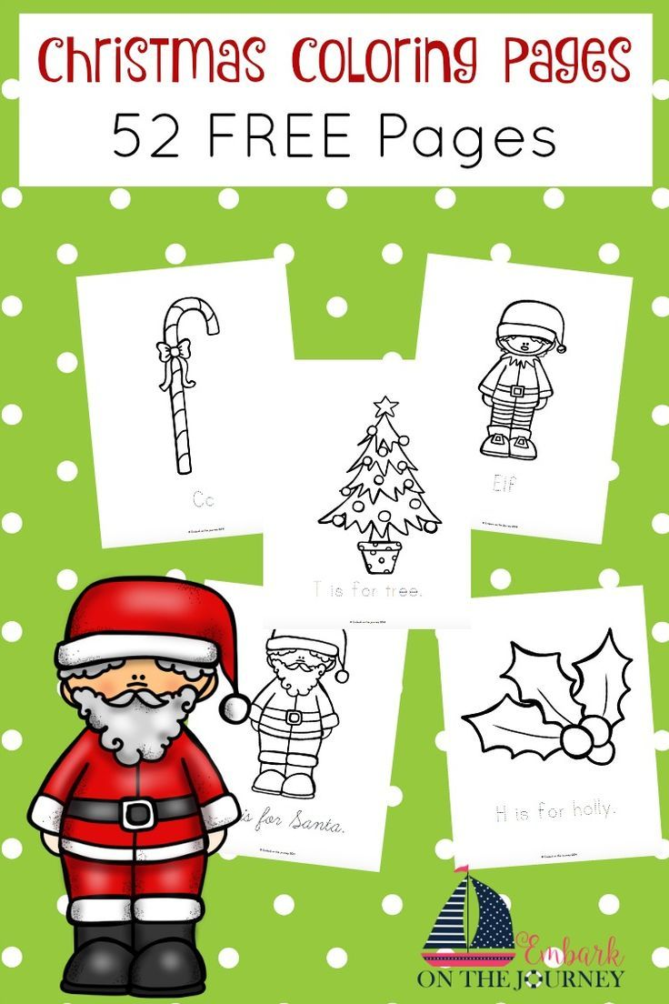 Christmas Coloring Pages | Pinterest | Holidays, Free and Preschool ...