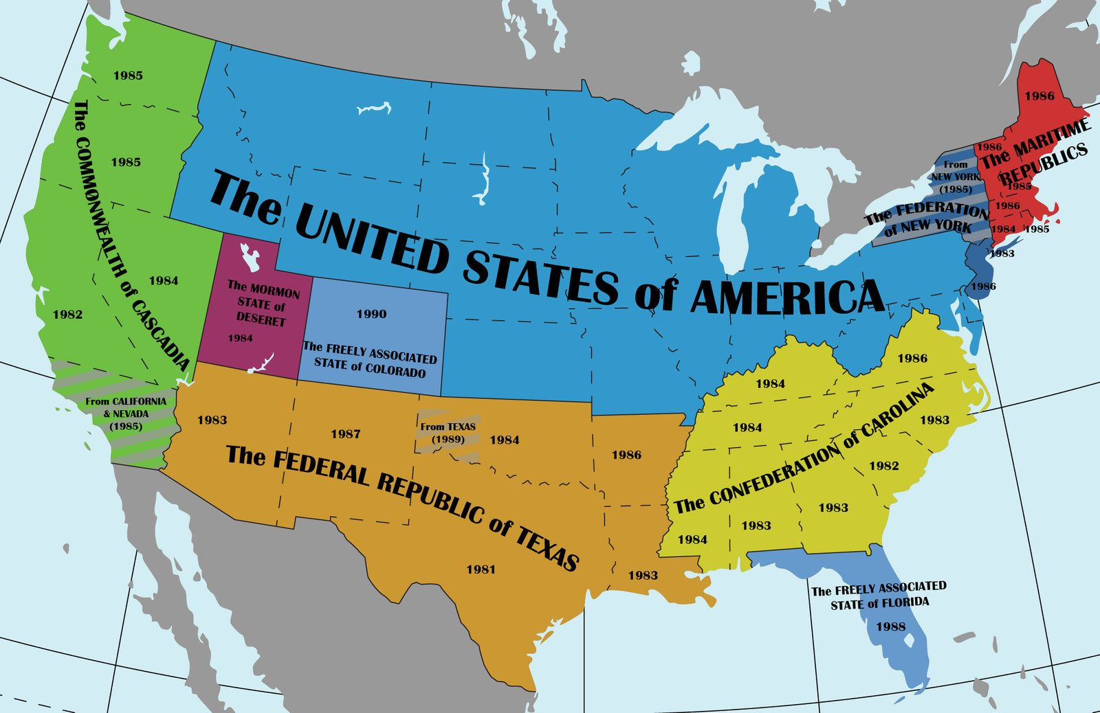 The New Republics Of North America