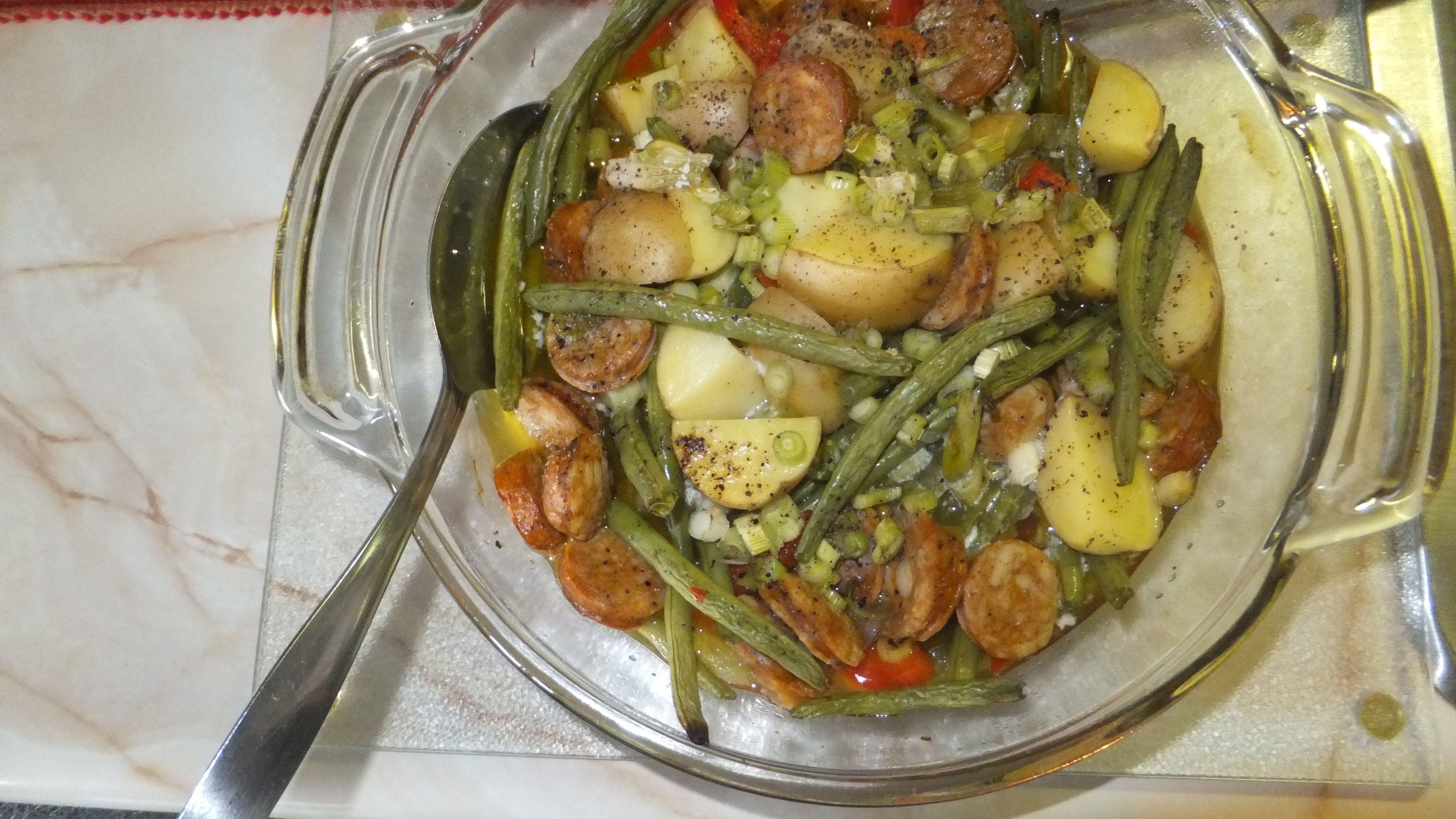 Veggie,Potato and Sausage