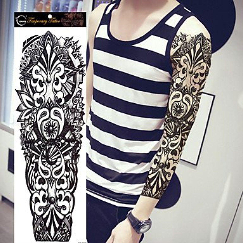 1pcs large waterproof fake paste leg full arm tattoo