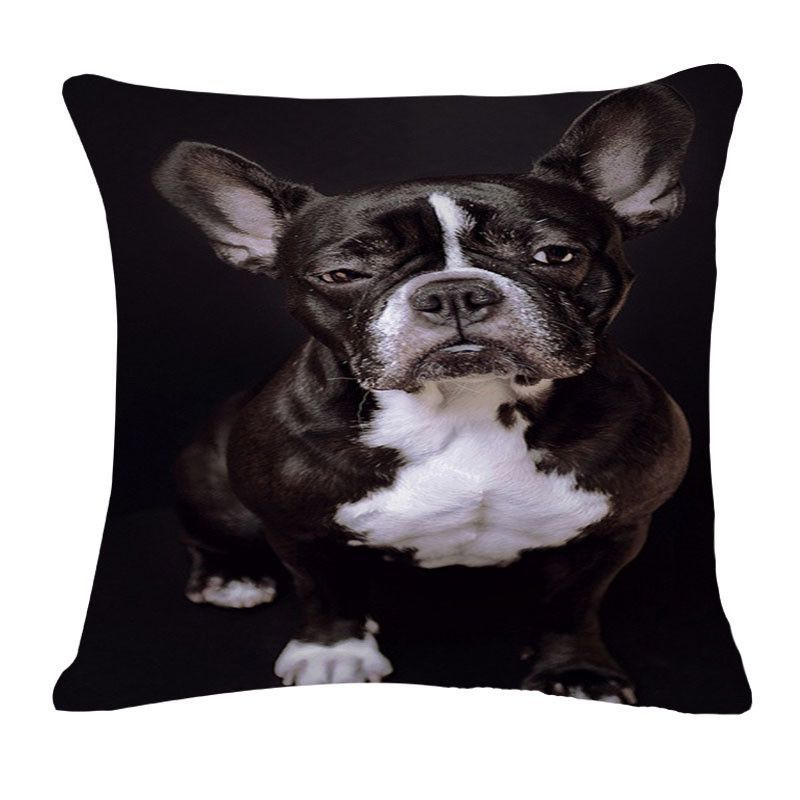 Choice Of Printed French Bulldog Throw Pillow Without Core