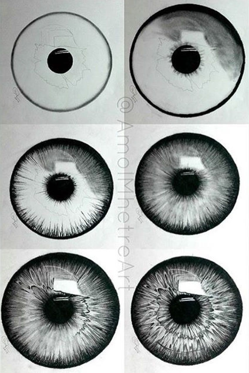 how to draw an iris step by step
