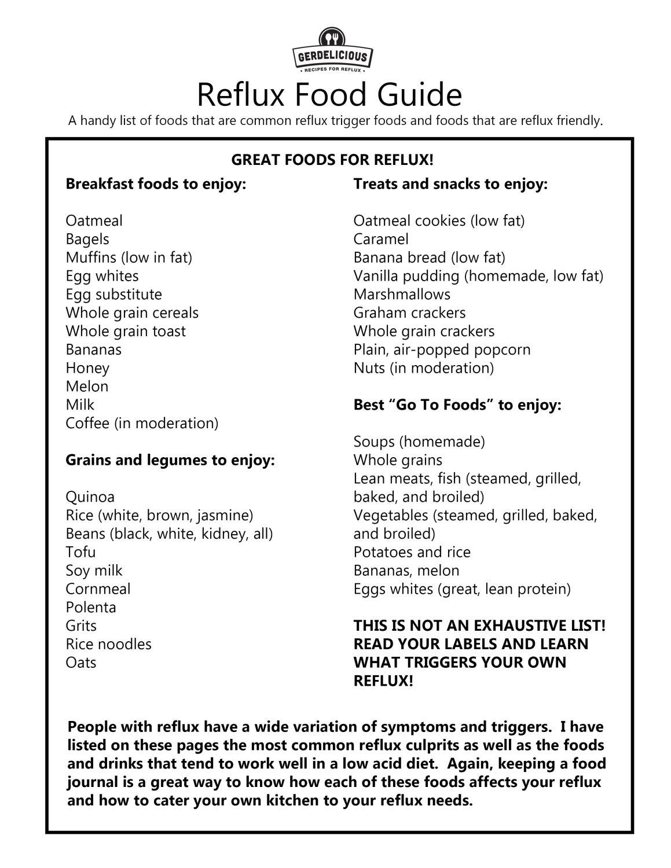 Low Acid Diet For Reflux – LPR Diet