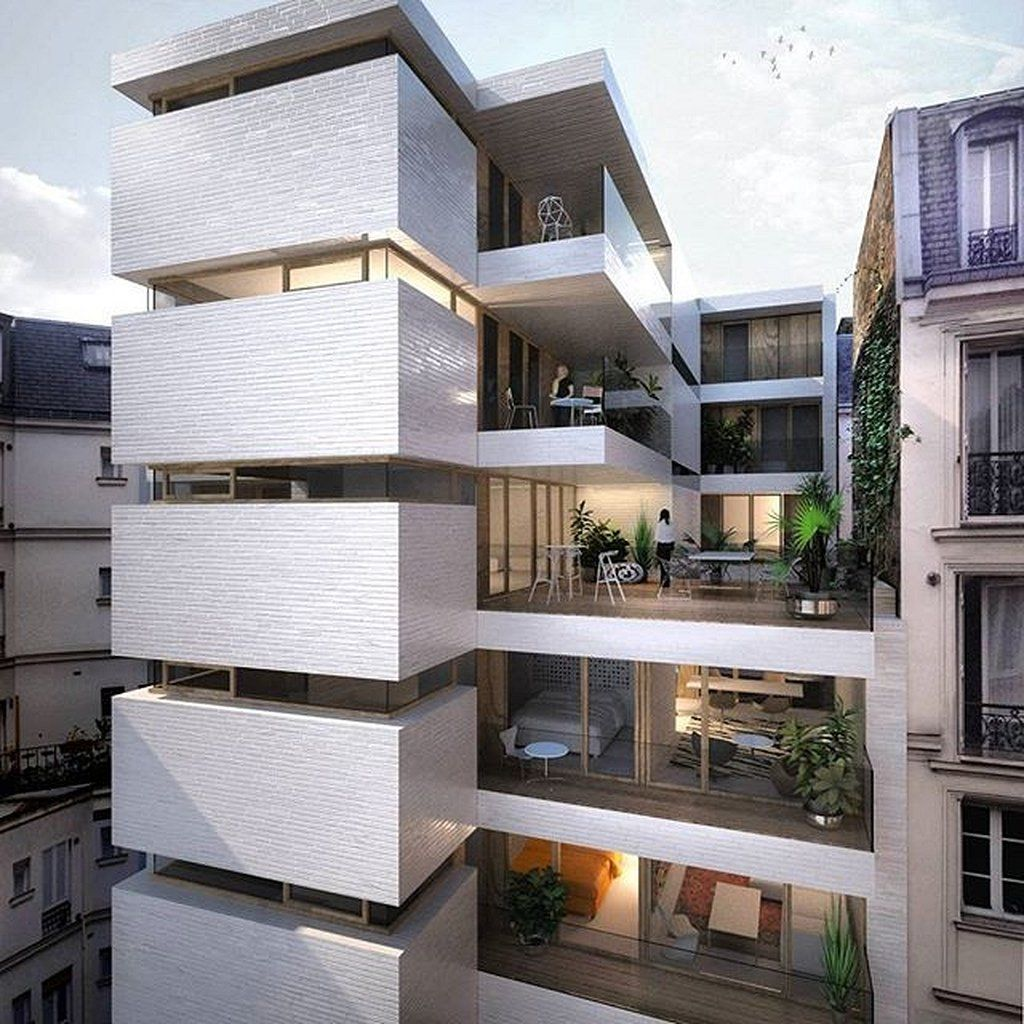 46 Modern Architecture Building Apartments Https Www Mobmasker Com Architectu Modern Architecture Building Apartment Architecture House Projects Architecture