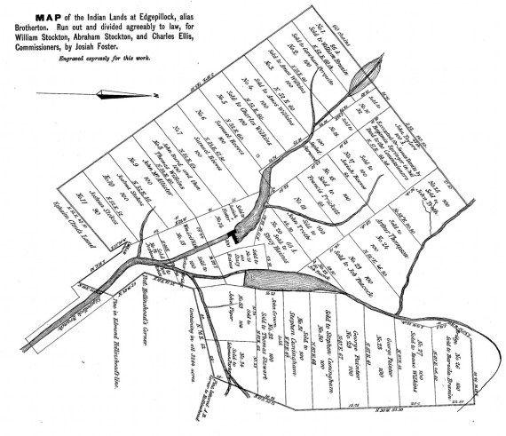 Map of the Indian Lands at Edgepillock, alias Brotherton