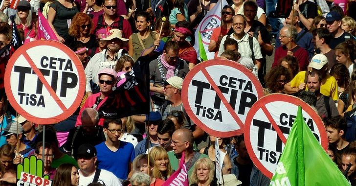 Media Silent as Anti-Corporate Trade Deal Protests Take Europe by Storm