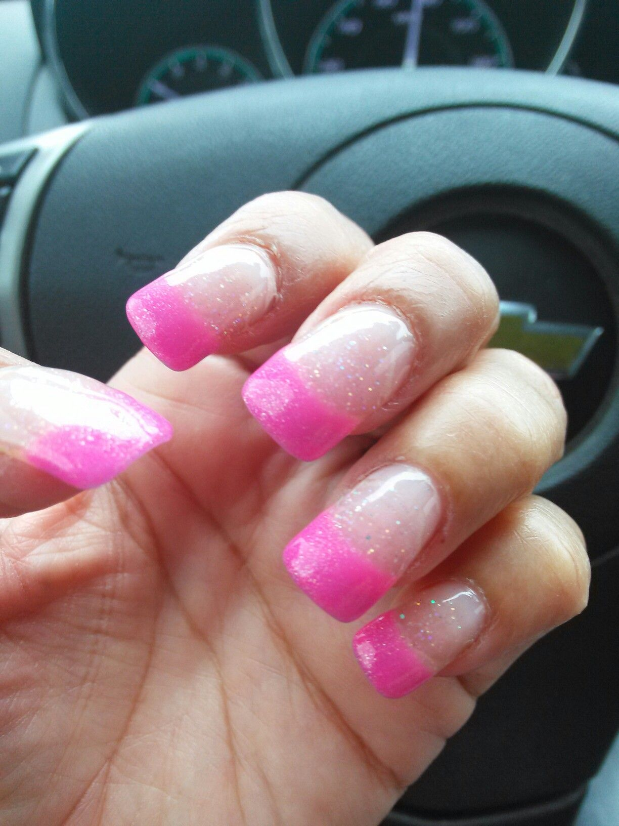 hot pink french tip only glitter | booshy nails | pinterest | fancy