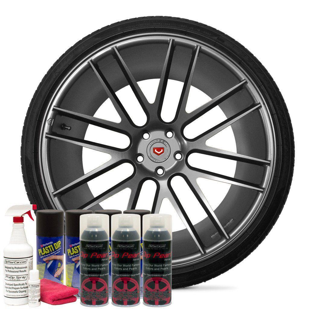 Hyper Silver Wheel Kit Black Wheels Wheel Car Painting