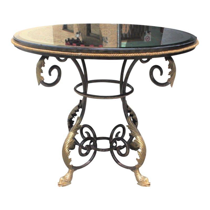 Neoclassical Iron Center Table Or Dining Table Center Table French Art Deco Furniture Table