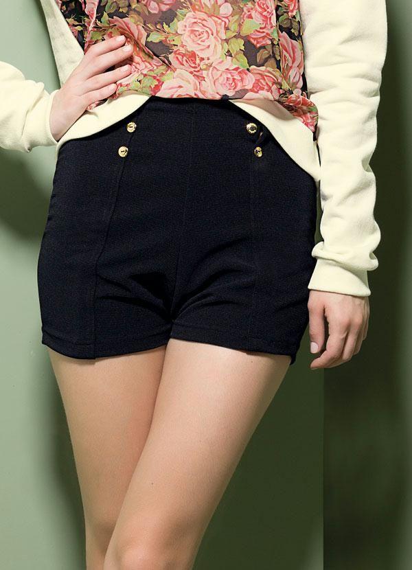 Short hot pant   Shorts   Short cintura alta, Coleção primavera ... adb43de913