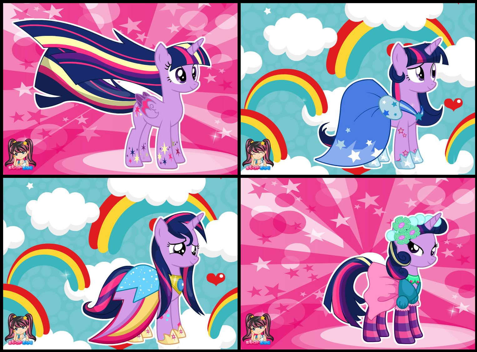 My Little Pony Twilight Sparkle Rainbow Power Style Dress Up Game