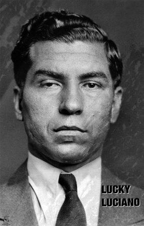 Lucky Luciano Gangster Italian Mobster Organized Crime Syndicate Mafia Photo Scene De Crime Mafia Portrait