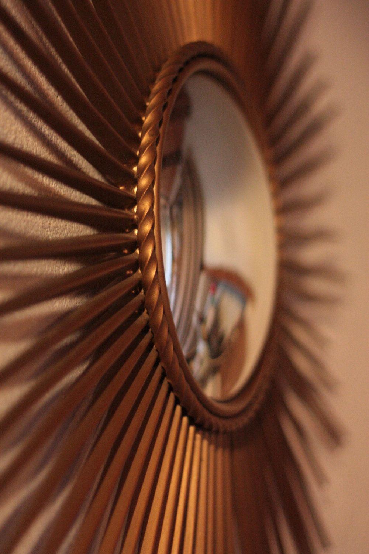 Gorgeous Mid Century Modern French Sunburst Mirror by ...