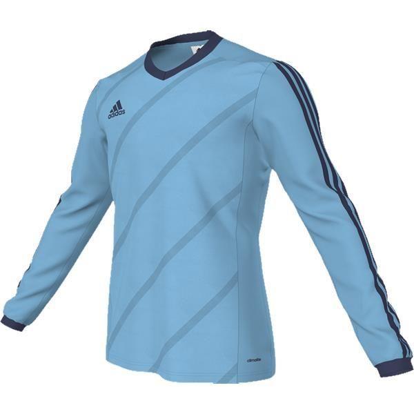 4a6c5c4911b8 adidas Tabela 14 Super Cyan Dark Blue LS Football Shirt
