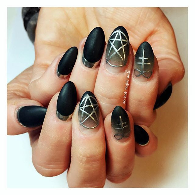 satanic chrome eclipse for @step1215 ✨⚰ | nails | Pinterest ...