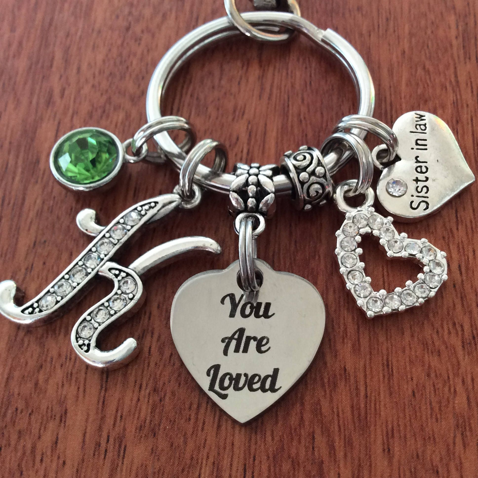 SISTER IN LAW Gift Sister In Law Birthday Keychain Gifts For You Are Loved Personalized By