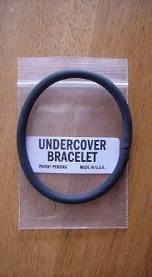 Edc Everyday Carry Undercover Bracelet Rubber With Hidden Handcuff Key Aegisgears