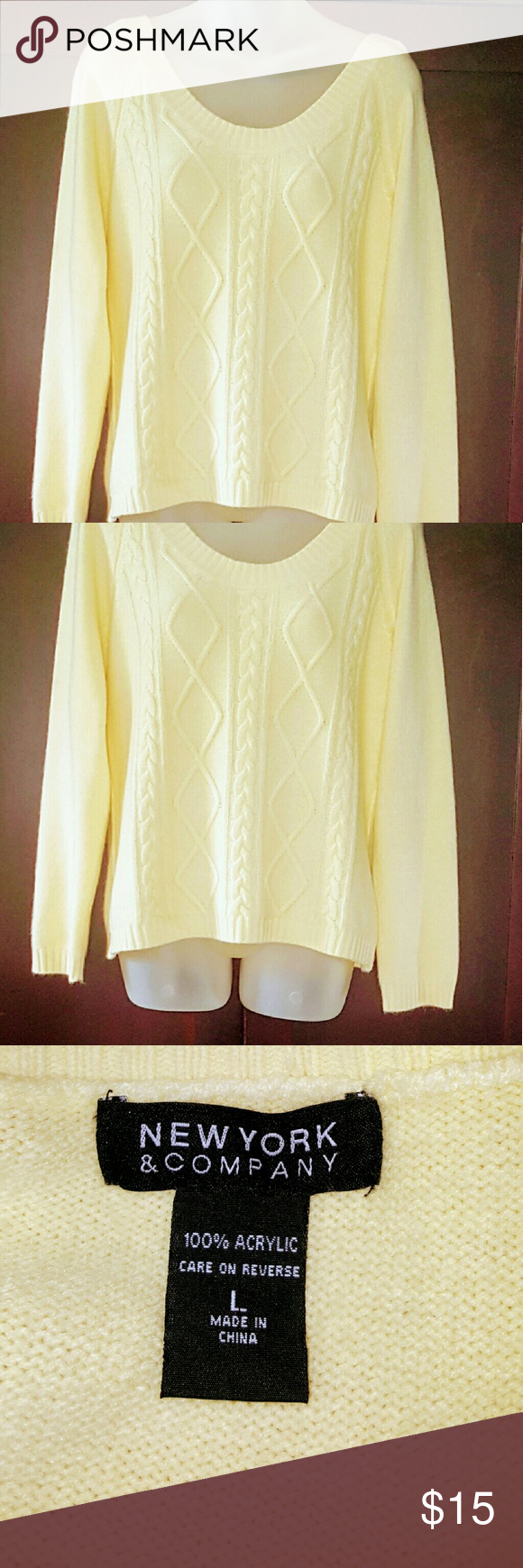 New York & Company Cozy & Soft Yellow Sweater | D, New york and ...
