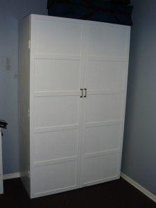White Double Door Storage Cabinet