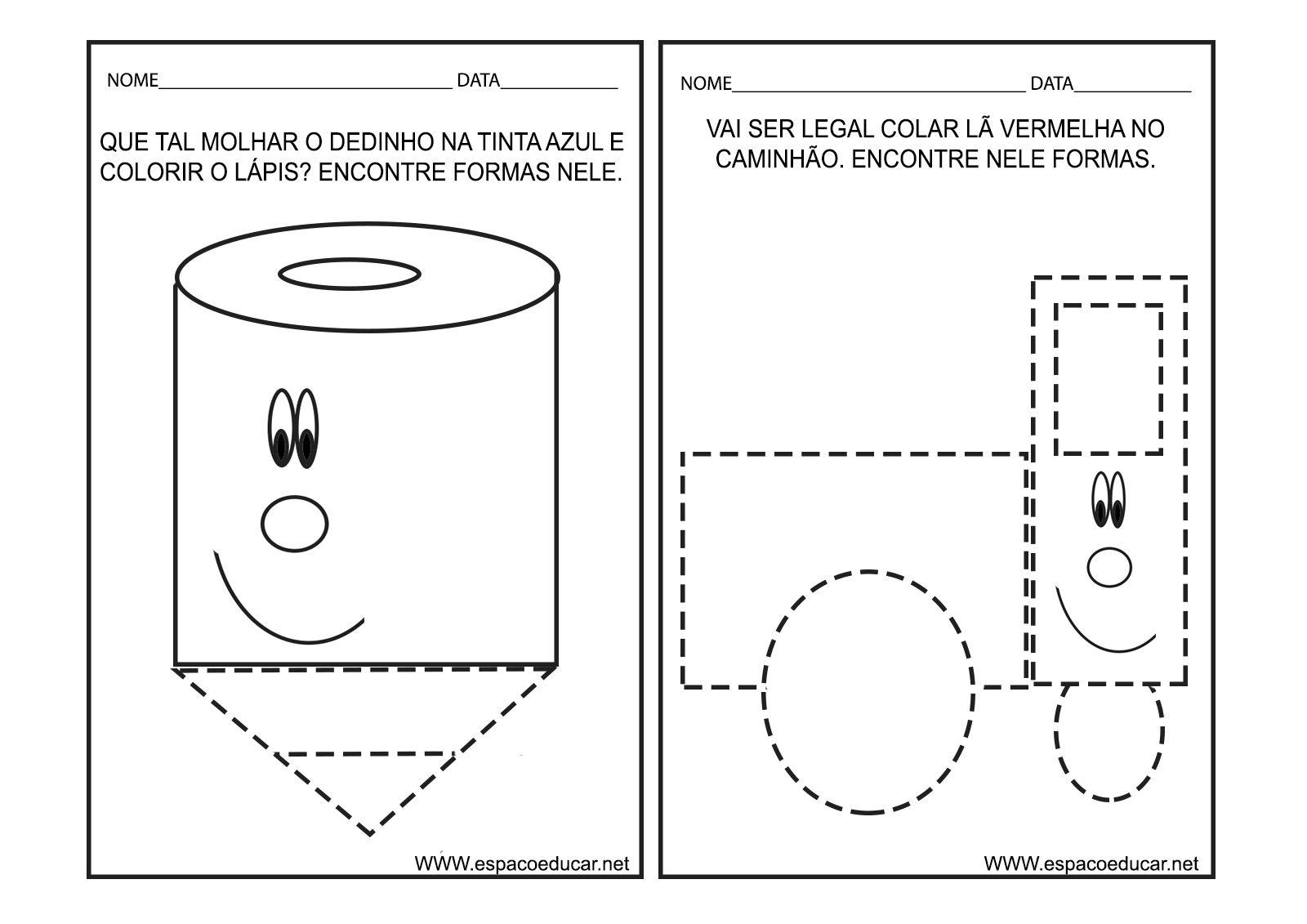 Caderno de Atividades Formas e Cores para a Educação Infantil grátis ...