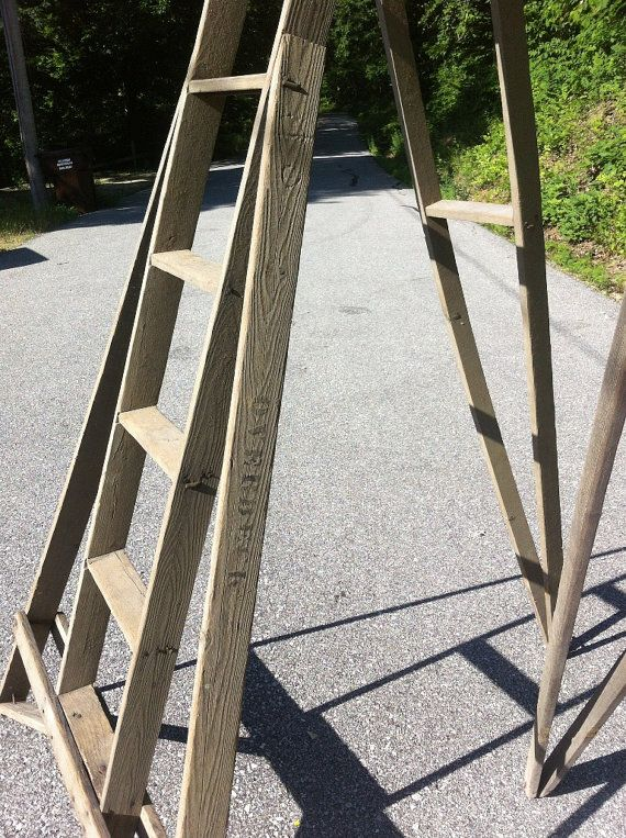 Old Vintage Orchard Apple Ladder From Wisconsin Unusual Ladder Things To Sell Orchard