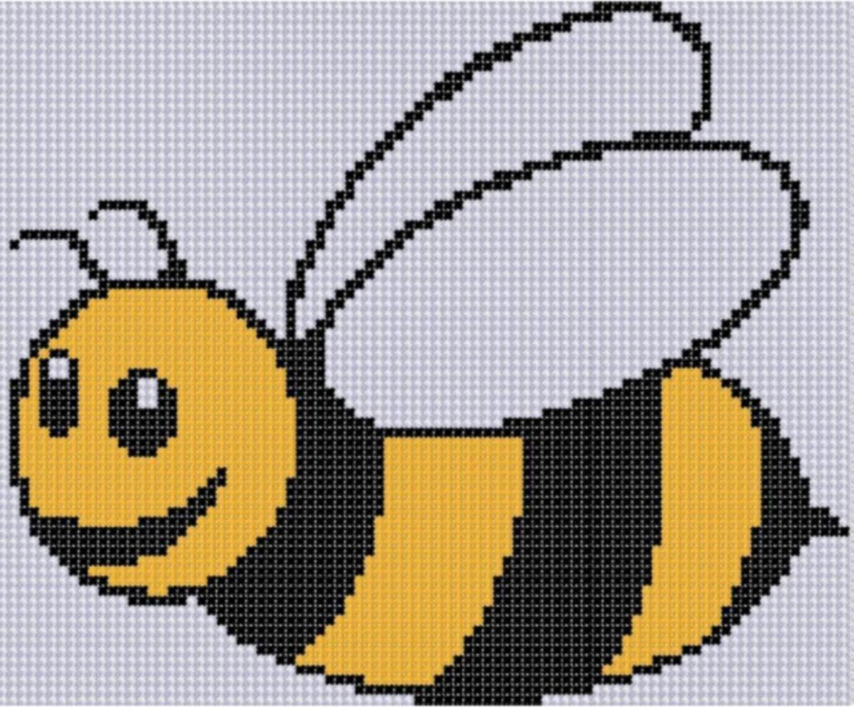 Bee Cross Stitch Pattern | Punto cruz | Pinterest | Punto en cruz ...