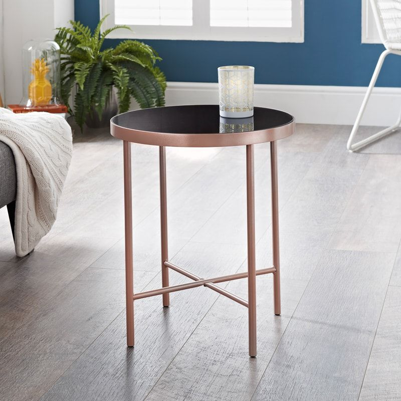 Patina Round Metal Table Rose Gold Furniture Coffee Tables B M Furniture Sale Furniture Rose Gold Furniture